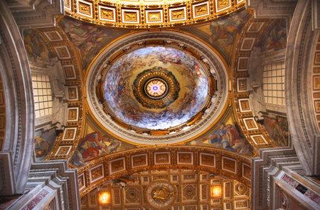 Watykan Beautiful Inside Gold Pułap Dome =