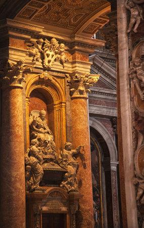 Vatican Inside Pope Benedict Statue Marble Bright Stock Photo - 5156042