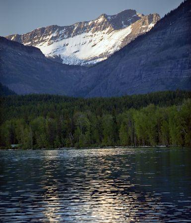 mcdonald: Lake McDonald Snow Mountains Reflection Glacier National Park