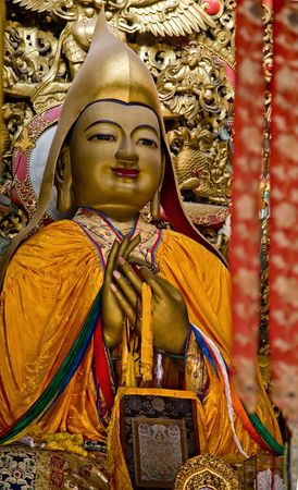 Zhong Ke Ba, Famous Monk, Founder of Yellow Hat Buddhism Altar Offerings Yonghe Gong Buddhist Lama Temple Beijing China Built in 1694, Yonghe Gong is the largest Buddhist Temple in Beijing.Resubmit--In response to comments from reviewer have further proce