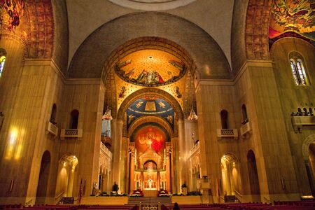 immaculate: Shrine of Immaculate Conception Cathedral Basilica Inside Arches Mosaics     Editorial