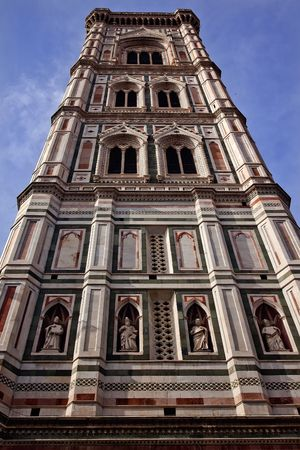 reviewer: Giottos Bell Tower Duomo Basilica Cathedral Church Florence ItalyResubmit--In response to comments from reviewer have further processed image to reduce noise, sharpen focus and adjust lighting.