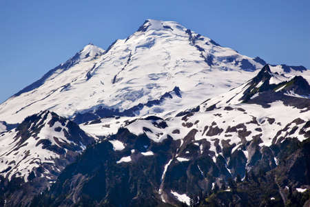 Artist Point Mount Baker Closeup Snow Mountain Washington State Pacific Northwest photo
