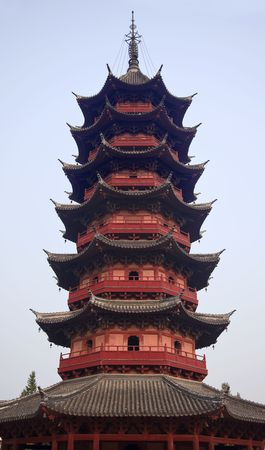 song dynasty: Ancient Chinese Ruigang Auspicious Light Pagoda Dates Back to 1004 AD in Song Dynasty Suzhou China