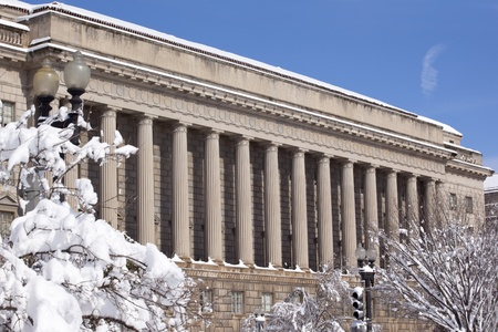 Commerce Department After the Snow Constitution Avenue Washington DC Stock Photo - 8537952