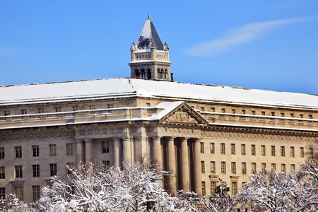 Commerce Department Old Post Office After the Snow Constitution Avenue Washington DC Stock Photo - 8537953