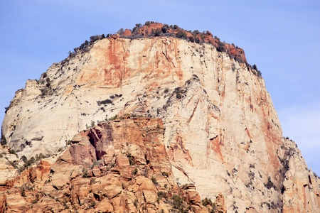 sentinel: The Sentinel Tower of Virgin Zion Canyon National Park Utah Southwest  Stock Photo