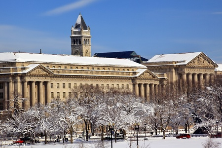 Commerce Department Old Post Office After the Snow Constitution Avenue Washington DC Stock Photo - 8888831