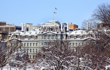 Old Executive Office Building Vice President Office After the Snow Constitution Avenue Washington DC photo
