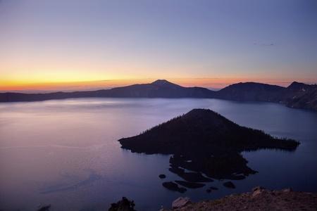 northwest: Crater Lake Wizard Island Sunrise Oregon Pacific Northwest