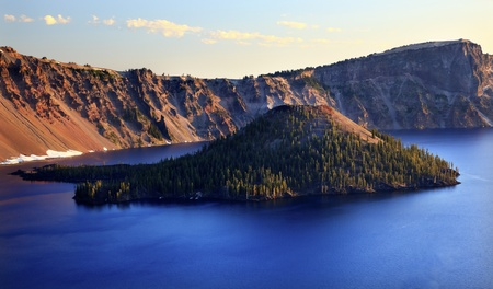 crater lake: Wizard Island Crater Lake National Park Oregon Pacific Northwest