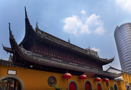 Jade Buddha Temple Jufo Si Shanghai China Most famous buddhist temple in Shanghai photo