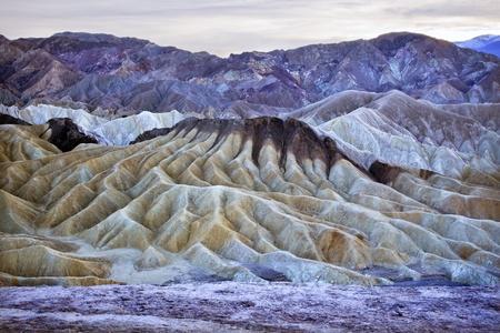 Zabriski Point Mudstones form Badlands  Death Valley National Park California photo