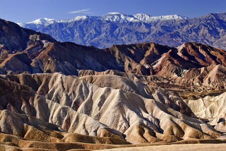 Zabriski Point Snowy Panamint Mountains Death Valley National Park California photo