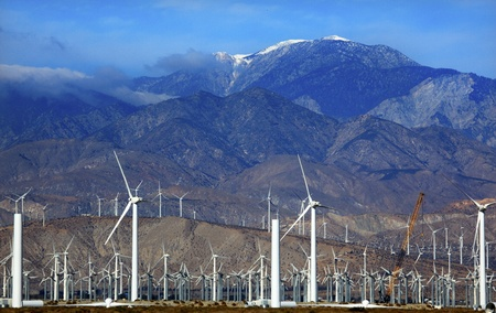 Wind Turbines Coachella Valley Palm Springs California photo