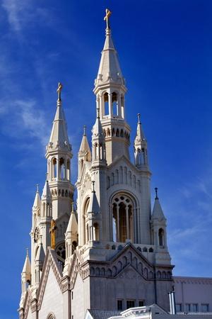 steeples: Saint Peter and Paul Catholic Church Steeples San Francisco California