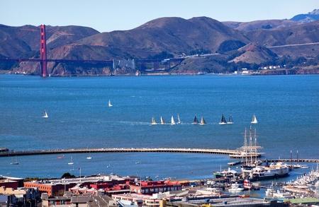 Fisherman s Wharf Alcatraz Wyspa w San Francisco Zdjęcie Seryjne