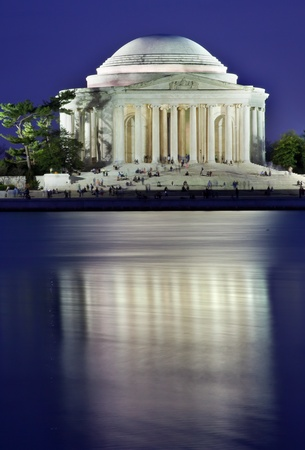 disctrict: Jefferson Memorial and Tidal Basin in April with Reflection