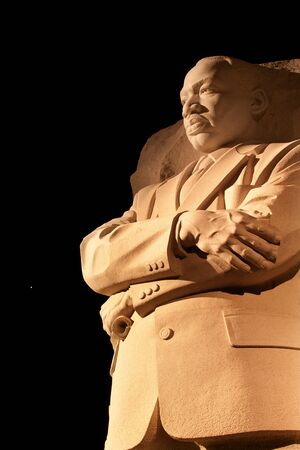 sculptor: Martin Luther King Jr  Memorial Statue Venus and Stars Night Washington DC Sculptor is Lei Yixin Stock Photo
