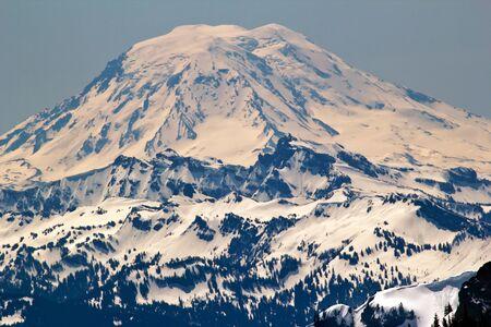 adams: Snowy Mount Saint Adams Mountain Glacier from Crystal Mountain