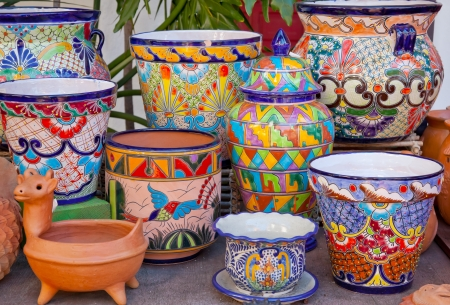 Mexican Pots and Decorations Old San Diego Town California Editoriali