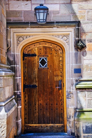 ivy league: Yale University Doorway, Old Wooden Door, New Haven Connecticut