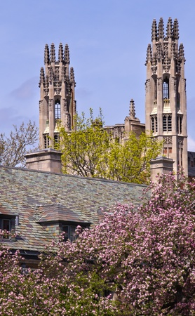 ivy league: Yale University Sterling Law Building Ornate Victorian Towers New Haven Connecticut Editorial