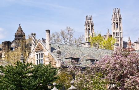 Yale University Law Sterling Aufbauend Ornate viktorianischen Towers in New Haven Connecticut Standard-Bild - 14392309