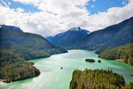 Diablo Lake Boat North Cascades National Park Washington Pacific Northwest photo