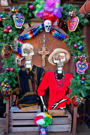 Mexican Christmas Dead Decorations Old San Diego Town California