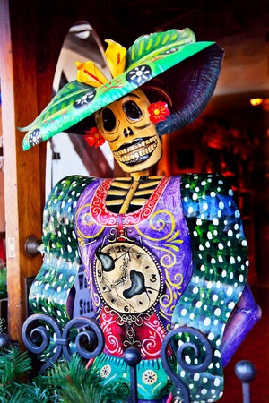 Mexican Christmas Dead Figure Decorations Old San Diego Town California Stock Photo - 14565023