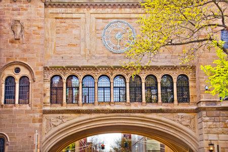 Wiktoriański Stone Arch Yale University Art Building New Haven Connecticut Publikacyjne