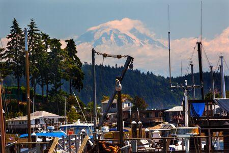 durchstechen: Gig Harbor, Mount Rainier Pierce County, Washington State Pacific Northwest Lizenzfreie Bilder