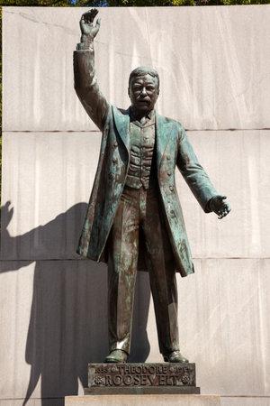 roosevelt: Theodore Roosevelt Statue Memorial Roosevelt Island Washington DC