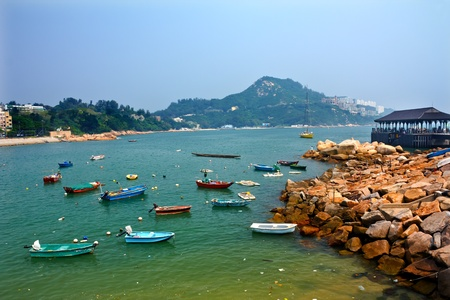 hong kong people: Boats Stanley Harbor Pier Ferry Dock Hong Kong