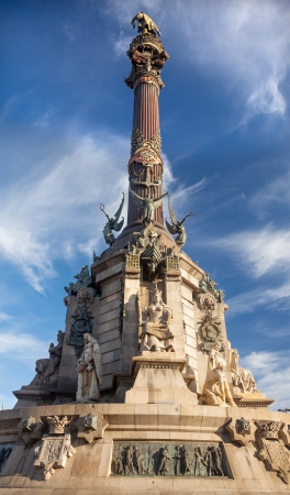 queen isabella: Columbus Monument, Monument A Colom, Queen Isabella Statue, Barcelona, Spain   At one end of the La Rambla, the monument was completed for the Universal Exposition in 1888 and is located at the spot where Columbus returned to Spain after his first trip to