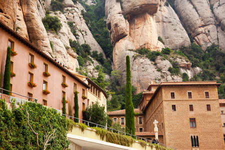 invaded: Monestir Monastery of Montserrat, Barcelona, Catolonia, Spain   Founded in the 9th Century, destroyed in 1811 when French invaded Spain  Rebuilt in 1844 and now a Benedictine Monastery   Placa de Santa Maria