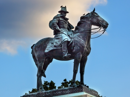 Ulysses US Grant Equestrian Statue Civil War Memorial Capitol Hill Washington DC   Created by Henry Shrady and dedicated in 1922   Second largest equestrian statue in the US   Grant is riding Cincinnati, his famous horse
