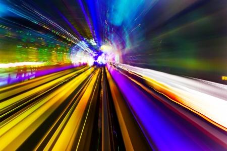 zwart gat: Paars Geel Rail abstract Metro Pudong Bund Shanghai China Shanghai China Black Hole van Shanghai