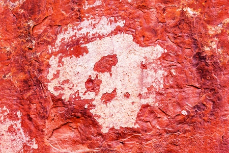 devils garden: Red Rock Canyon Abstract Devils Garden Arches National Park Moab Utah USA Southwest  Lichens on red canyon walls create many abstracts close up
