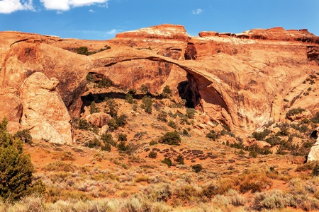 devils garden: Landscape Arch Rock Canyon Abstract Devils Garden Arches National Park Moab Utah USA Southwest  Longest and thinnest arch in the world