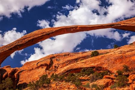 the devils garden: Landscape Arch Close Up Rock Canyon Abstract Devils Garden Arches National Park Moab Utah USA Southwest