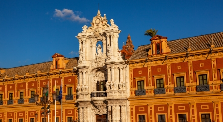 Palace of San Telmo Andalusian President Office Seville Andalusia Spain   Built in 1682