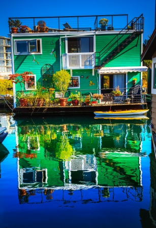 Green Houseboat Floating Home VFisherman photo