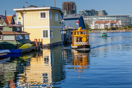 Floating Home Village Blue Houseboats Water Taxis Fisherman photo