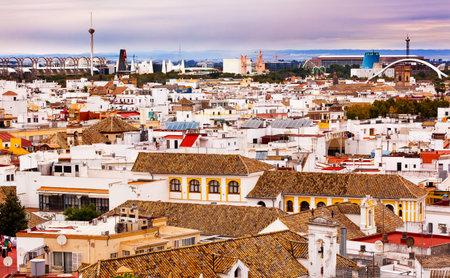 spanish houses: Basilica de la Macarena, Spanish Houses, Cityscape Cathedr Seville, Andalusia Spain.