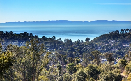 Morning Pacific Oecan View East Mountain Road Channel Islands Santa Barbara California
