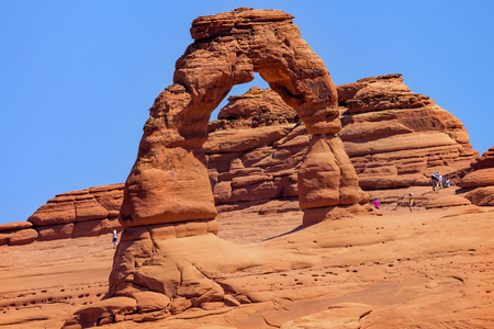 delicate arch: Delicate Arch Rojo Naranja Rock Canyon Parque Nacional Arches Moab Utah EE.UU. Southwest
