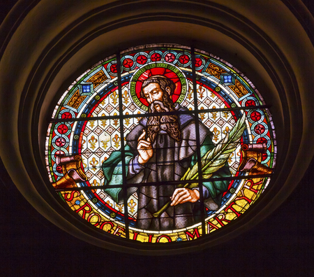 martyr: Catholic Martyr Stained Glass Basilica Cathedral Andalusia Granada Spain      Editorial