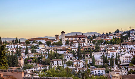 Granada Cityscape Churches Andalusia Spain   Stock Photo